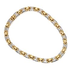 SOTHESBY'S IMPORTANT JEWELS ~ 18 Karat Two-Color Gold Necklace by BVLGARI