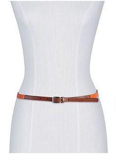 Skinny Orange Belt