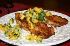 Peanut Ginger Chicken with Mango Salsa - The Sisters Cafe