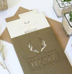 Rustic wedding invitations from Vanilla Retro Stationery