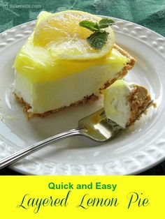 Quick and Easy Layered Lemon Pie with Graham Cracker Crust