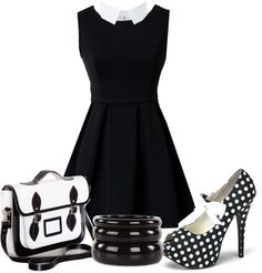 """""""Black and white"""" by jellytime ❤ liked on Polyvore"""