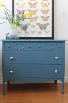 Etonnant 1940u0027s Distressed Reclaimed Vintage 4 Dr Covington Blue Paint Dresser Chest  Of Drawers. $329.00, Via Etsy. | Painted Furniture | Pinterest | Dresser,  ...