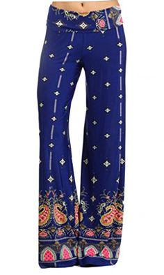 Sugar Rock Women Paisley Print Yoga Pants Palazzo Fold-Over Waist Wide Leg SugarRock http://www.amazon.com/dp/B00MVODGUY/ref=cm_sw_r_pi_dp_Bl9uvb1NT17S2