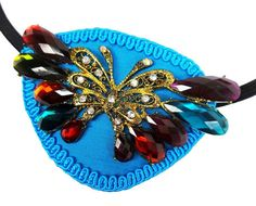 Eye Patch Blue Rainbow Butterfly Victorian by JenkittysCloset
