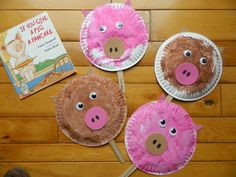 Like Mama ~ Like Daughter An Enchanted Childhood Playschool ~ February - March ~ If You Give a Pig a Pancake & Pig paper plate craft. Charlotteu0027s Web farm theme. | Crafts Kids ...