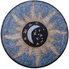 ms international del sol medallion 36 in x 36 in travertine floor and wall tile smot med. Black Bedroom Furniture Sets. Home Design Ideas