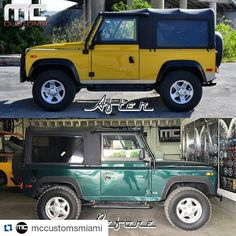 #Repost @mccustomsmiami with @repostapp  A little before and after of our Land Rover Defender project. #landrover #landroverdefender #defender #mc #mccustoms #mccustomsmiami #miami #305 #miamicustomcarshop #MiamiChassis by julio_mccustomsmiami #Repost @mccustomsmiami with @repostapp  A little before and after of our Land Rover Defender project. #landrover #landroverdefender #defender #mc #mccustoms #mccustomsmiami #miami #305 #miamicustomcarshop #MiamiChassis