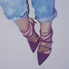 Small tattoo purple heels ♥.♥