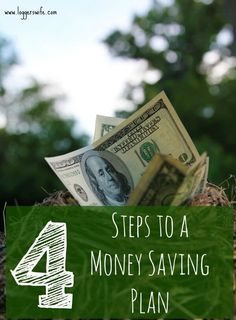 Have a hard time saving money? Need to build your emergency fund? Check out my 4 steps to creating a money saving plan!