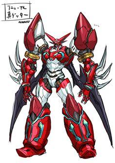 Shin Getter 1 by Ninnin Super Robot Taisen, Justice League Marvel, Robot Cartoon, Cool Robots, Gundam Art, Alien Art, Mecha Anime, Suit Of Armor, Robot Design