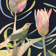painting, painting and lots of standing on top of the chair or table to contemplate 🤔 😋 new work for exhibition 'our island home' Watercolor Art, Art Painting, Flower Art, Artist, Painting, Illustration Art, Bird Artwork, Beautiful Art, Bird Art