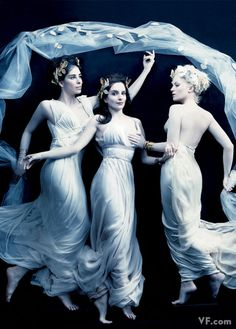 Sarah Silverman, Tina Fey and Amy Poehler as The Three Graces