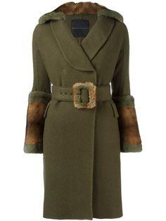 ERMANNO SCERVINO belted coat. #ermannoscervino #cloth #束带大衣