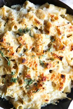Baked Creamy Garlic Rigatoni