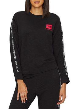 Calvin Klein black women´s sweatshirt l/s sweatshirt s logem 1981 Calvin Klein, Streetwear, Athletic, Sweatshirts, Sweaters, Jackets, Fashion, Street Outfit, Down Jackets
