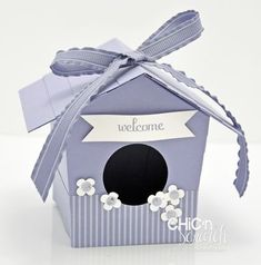 Welcome birdhouse - template and instruction video