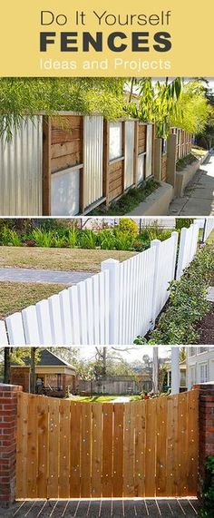 Do It Yourself Fencing Materials : Diy fence with corrugated iron and timber google search