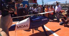 Uno dei due super-droni utilizzati per le ricerce in mare