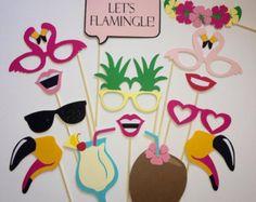 Flamingo Pineapple Party/Let's Flamingle Photobooth Props/Hawiian Luau/Bachelorette Luau/Ladies Night Flamingo Party Luau Theme, Hawaiian Theme, Aloha Party, Luau Party, Flamingo Birthday, Flamingo Party, Christmas Party Themes, Birthday Party Decorations, Hawaiin Party Decorations