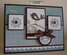 very cute and creative - I have this set (with the bird) from Stampin' Up and love it.