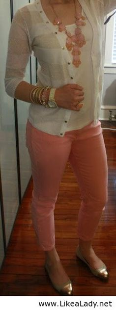 Pink and white - Casual outfit