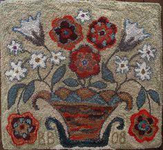 """Antique Basket"" Hooked Rug: Designed and Hooked by Brenda Beerhorst by {studiobeerhorst}-bbmarie, via Flickr"