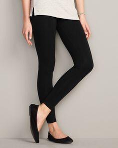 I like leggings that look a bit like pants....Full-length Wide Waistband Leggings | Eddie Bauer