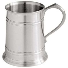 Straight Sided Tankard, Modern Tankards - Another bestselling tankard, boasting the appealing lustre of satin finish pewter in a simple and linear form and structure. Pewter Tankard, Drinkware, Beauty And The Beast, Beer, Mugs, Simple, Modern, Satin Finish, Surface