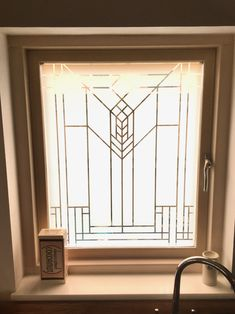 Buy Loewy Art Deco Frosted Film online from Purlfrost. Frosted Window Film, Glass Etching, Films, Art Deco, House Design, Windows, Interiors, Instagram, Photos