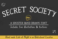 Free font! Secret Society is perfect for all your sinister Halloween designs