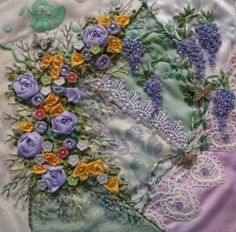 crazy quilt blocks | ... crazy quilt block number 6 of my next project, my lace quilt