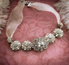 Vintage Bridal Rhinestone Statement Necklace  by LottieDaDesigns, $120.00