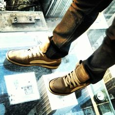 #PUMAs at the Willis Tower in #Chicago #shoes #travelingpumas