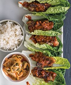 Grilled Pork Belly with Spicy-Sweet Korean Glaze | Wrap pieces of pork belly in lettuce leaves with sticky rice, kimchi and spice paste and you have a knockout small plate or first course.