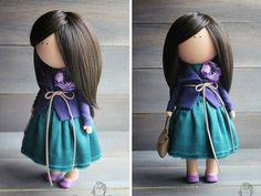 Hecha a mano muñeca decoración muñeca morena por AnnKirillartPlace