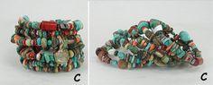 Native American Navajo Indian Jewelry springwire multi-stone bracelet