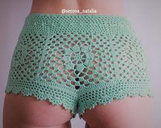 Crochet Shorts Pattern/ Beach Shorts/ Summer Shorts/ Bikini Bottom / High Waisted Shorts/ Beachwear/ Crochet Beach/ Shorts for Women