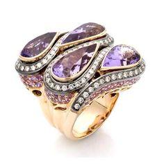 #Colorful and #Beautiful... Fit for the most #stylish #woman! #zorabcreation #purple #jewelry #gold #diamond #ring #style #fashion #stylist #chic #luxury #luxuriousliving #beauty #picoftheday #love #instadaily #instagood #beautiful #amazing