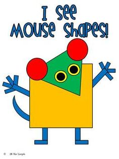 Mouse Shapes Fun!  What other animals can you make ffrom different shapes?