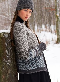 Design 411 brown Oleana - Solveig Hisdal - Norwegian Sweaters Cardigan Knit - www. Knitting Charts, Hand Knitting, Knitting Patterns, Pull Jacquard, Norwegian Knitting, Fair Isle Knitting, Pulls, Lana, Knitwear