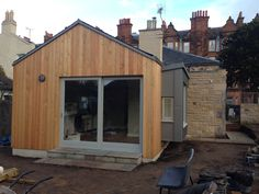 timber clad flat roof extension - Google Search