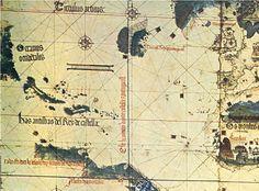 Fragmento del Planisferio de Alberto Cantino (1502)