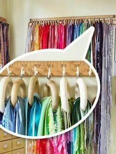 Organizar pashiminas e lenços