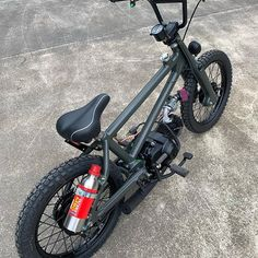 Image may contain: bicycle Powered Bicycle, Diy Go Kart, Mini Chopper, Power Bike, Honda Cub, Bmx Bikes, Motorcycles, Motorized Bicycle, Pit Bike