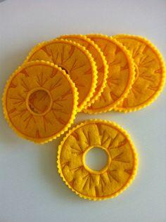 Felt food pineapple, Ananas genäht