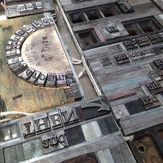 lead type letterpress