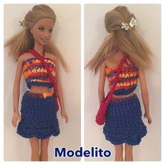 Vestidinhos de croche para boneca Barbie