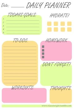 Daily planner                                                       …