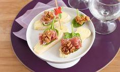 Recette de Tartines de reblochon au jambon cru et noix